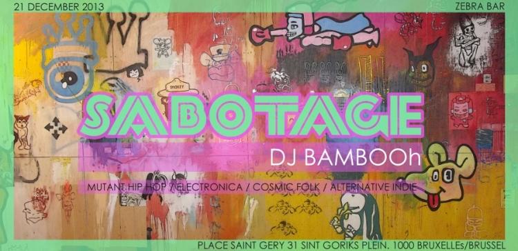 Sabotage 16 DJ BAMBOOH zebra bar rescaled