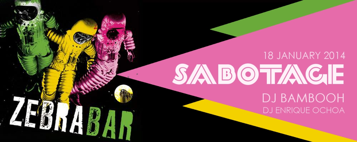 20140118 DJ Bambooh Sabotage Zebra